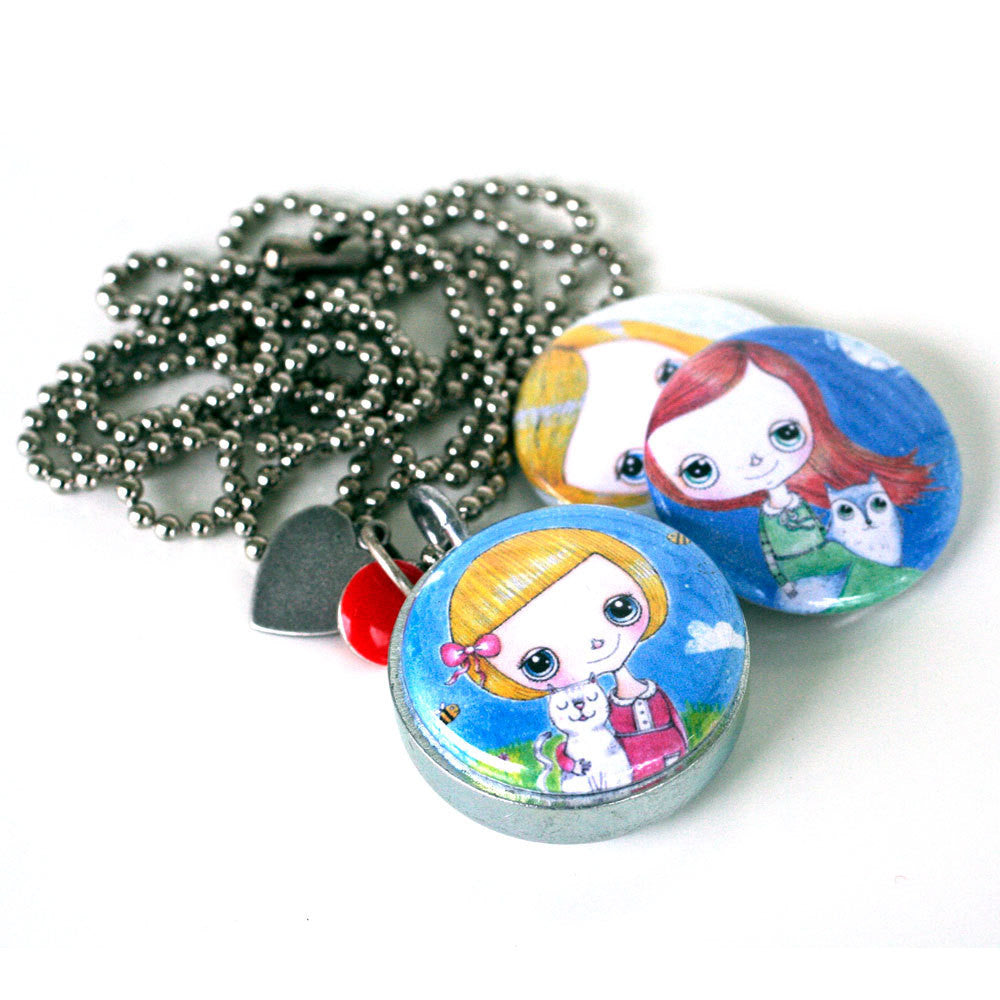 Little Girl Locket Necklace