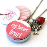 Tree Hugger Necklace Locket - Magnetic and Recycled