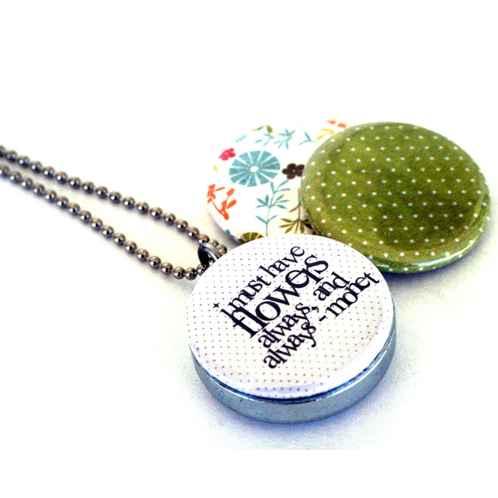Monet Quote Locket  Necklace