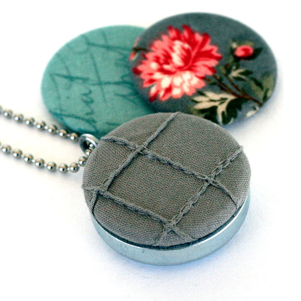 Grey Fabric Locket