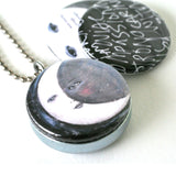 Moon Dancing Magnetic Locket Necklace -