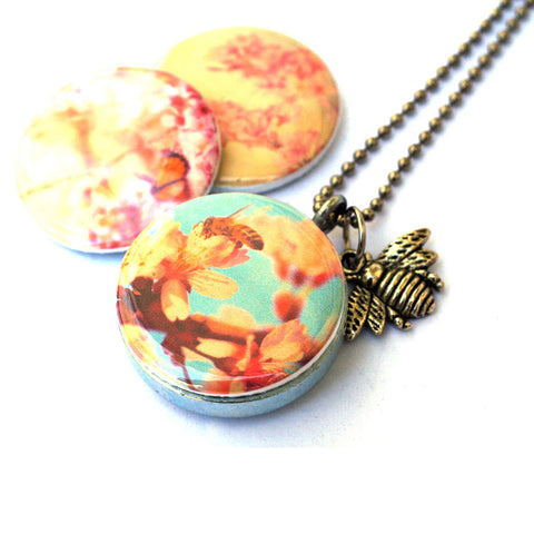 Bee Locket Necklace