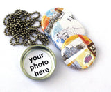 Greece, Budapest and Venice Travel Locket Necklace