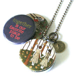 TOGETHER Best Friends / Sisters Locket Necklace