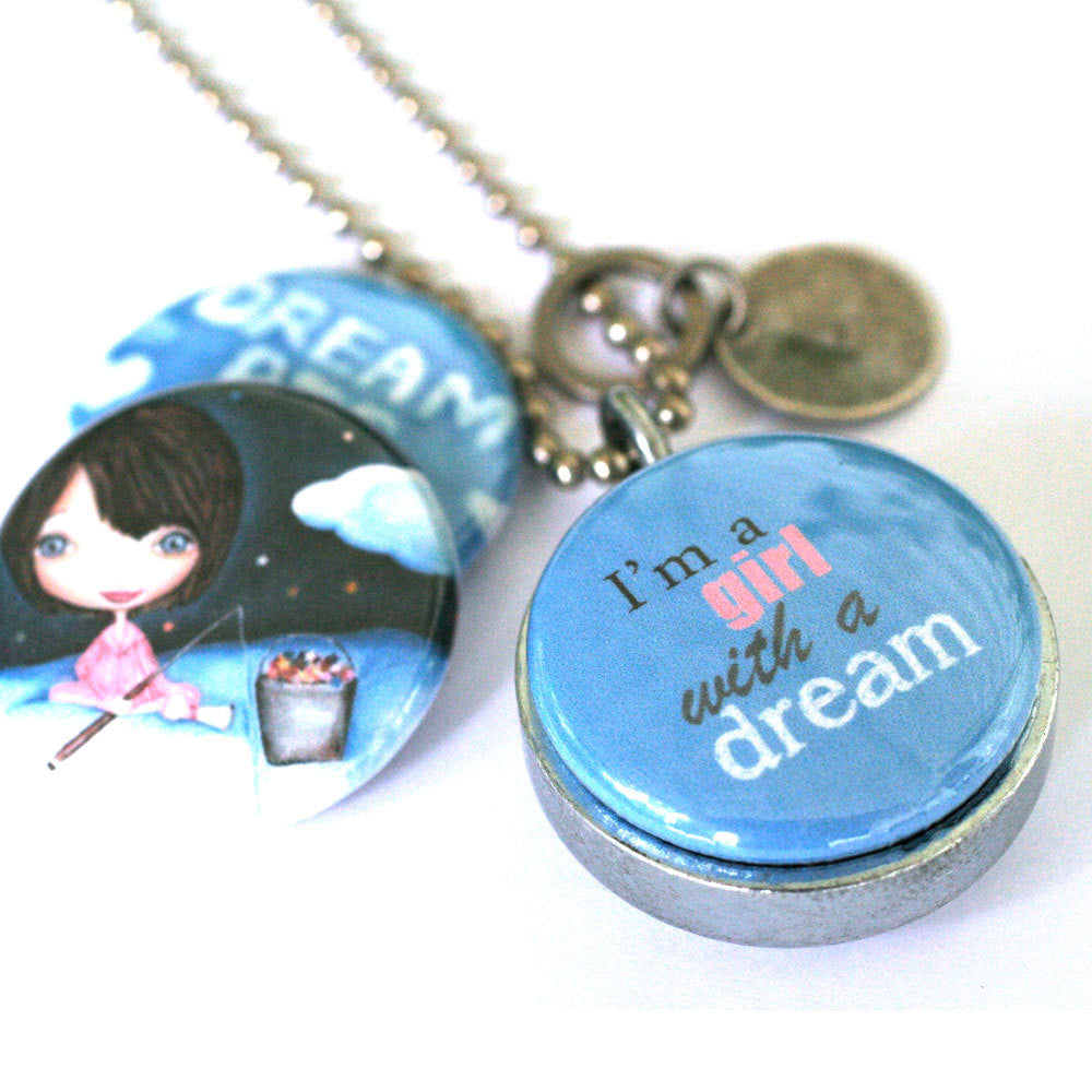 Dream Big Girl's Locket Necklace