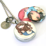 Fairy Girl's Magnetic Locket Necklace