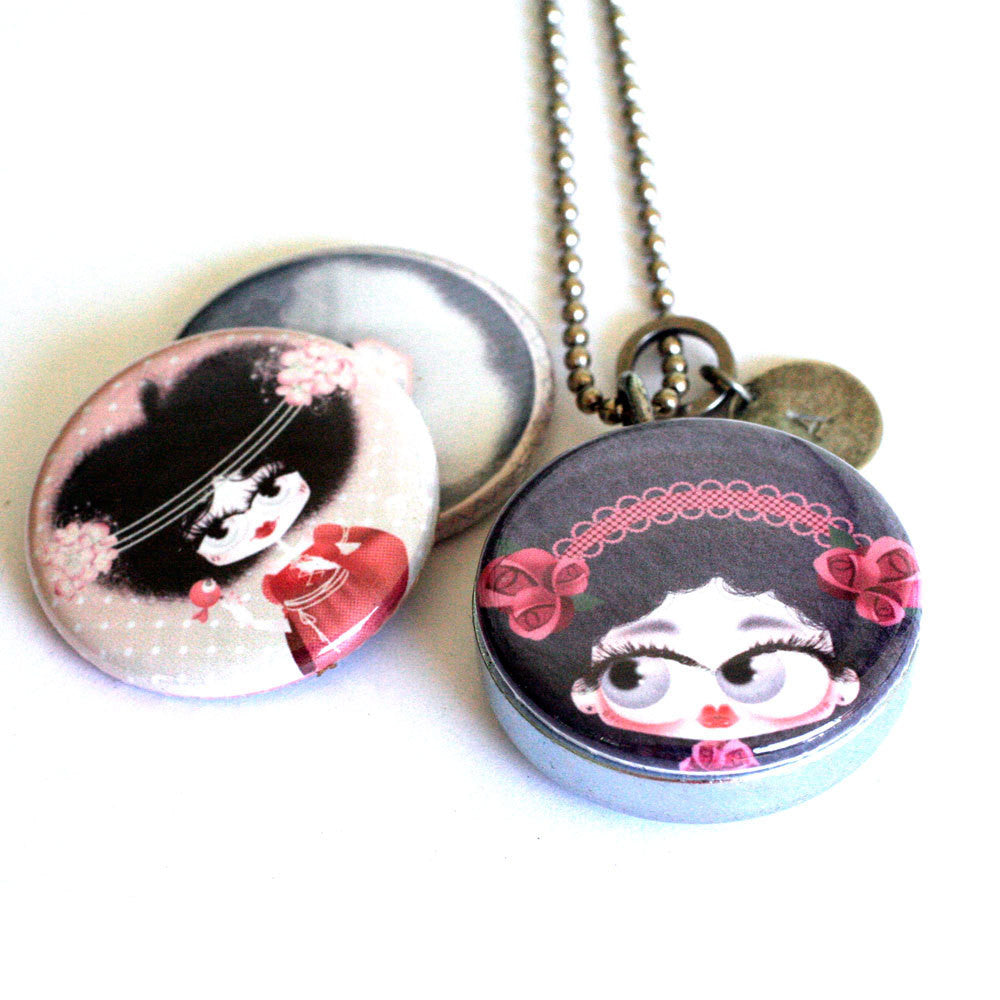 Girl Locket Necklace