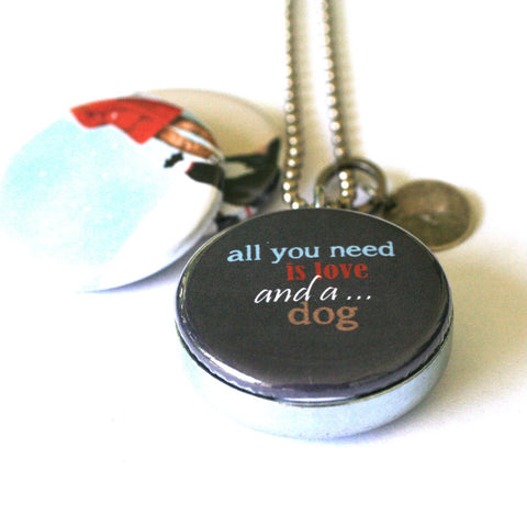 All You Need is a Dog Locket Necklace