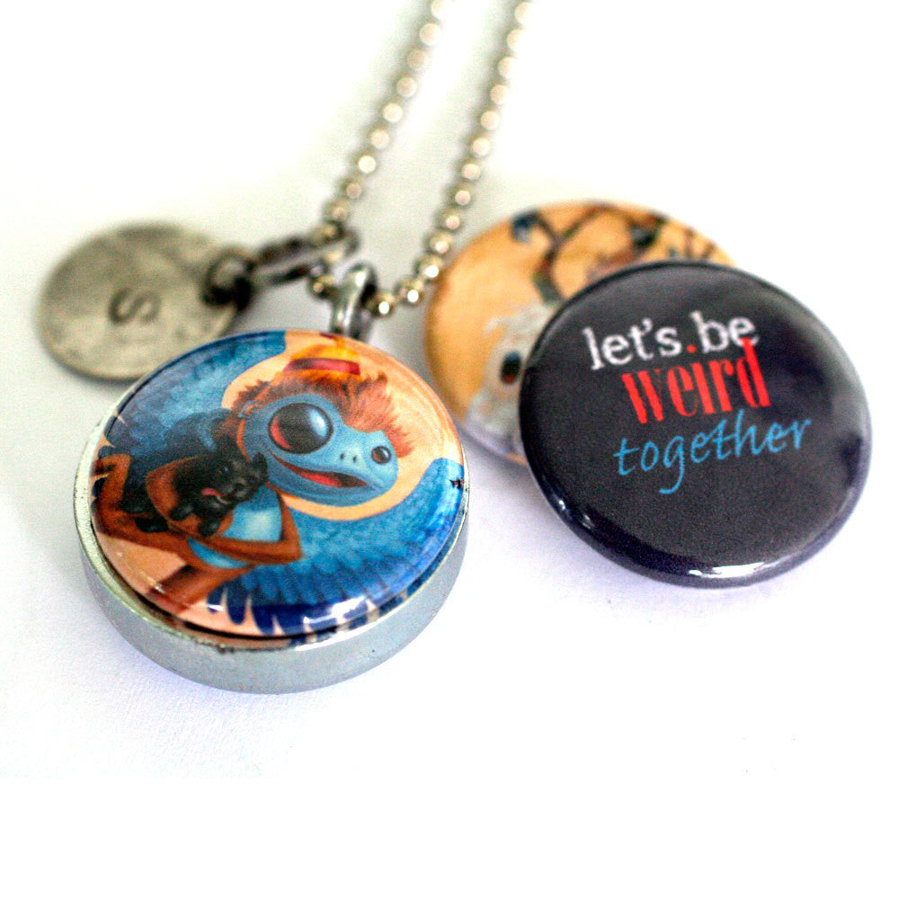 Weird Friendship Locket - Together, Wizard of Oz Monkey,