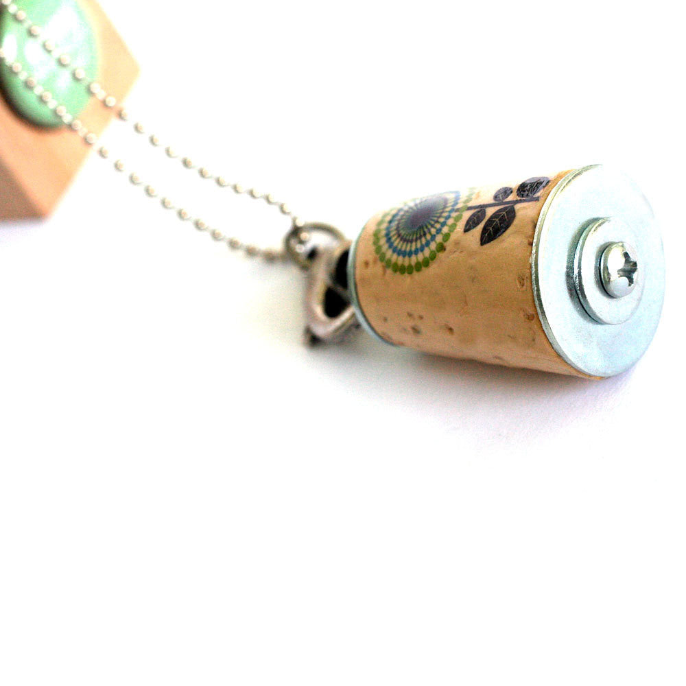 GROW Where Planted Necklace | Cork in Test Tube and Wood Cube