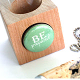 Be Prepared Donkey Necklace | Cork in Test Tube and Wood Cube