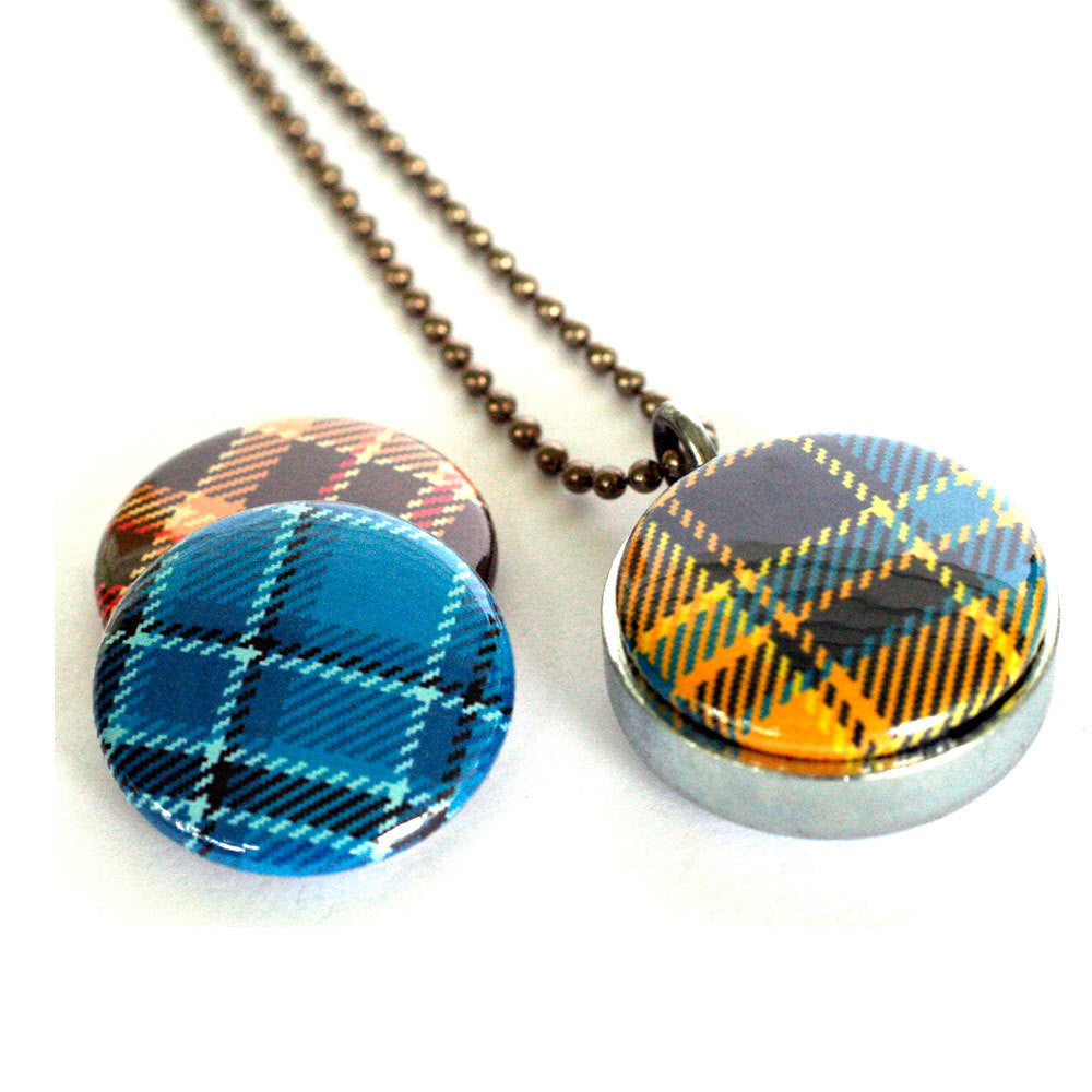Mad for Plaid Magnetic Locket Necklace