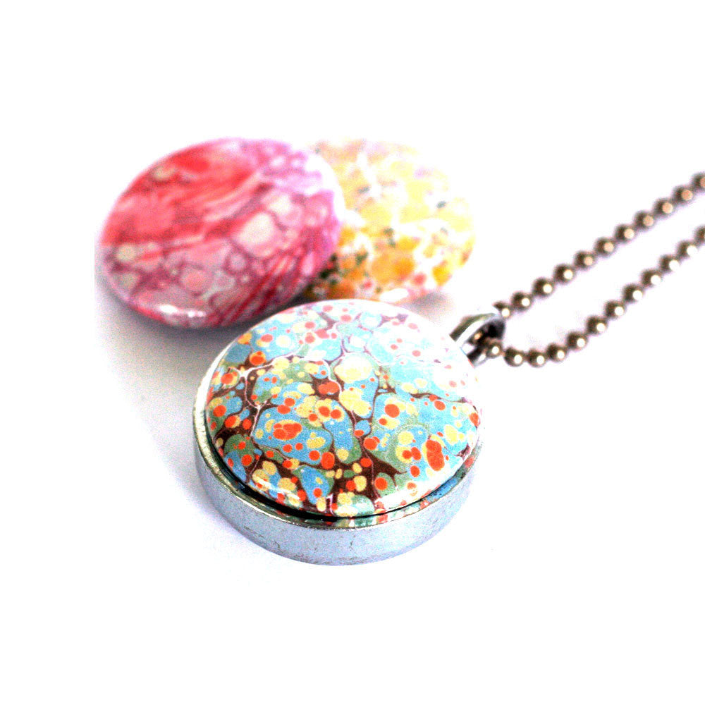 Marble Locket Necklace