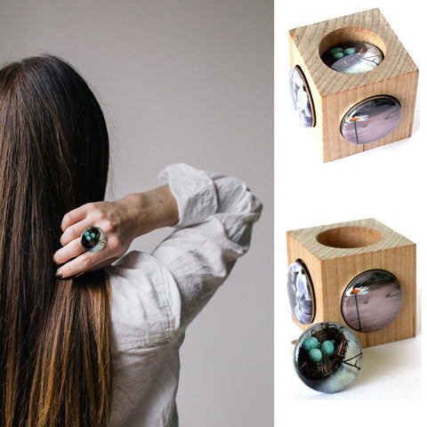 Birds Nest Art Photography Ring