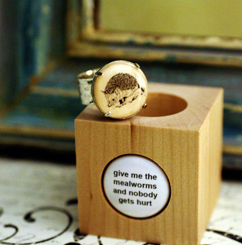 hedgehog cork ring