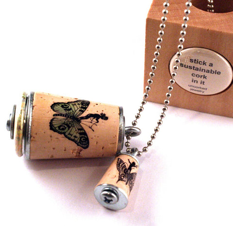 Fairy Necklace | Cork in Test Tube and Wood Cube