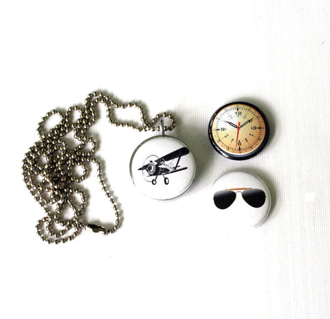 Airplane Locket Necklace