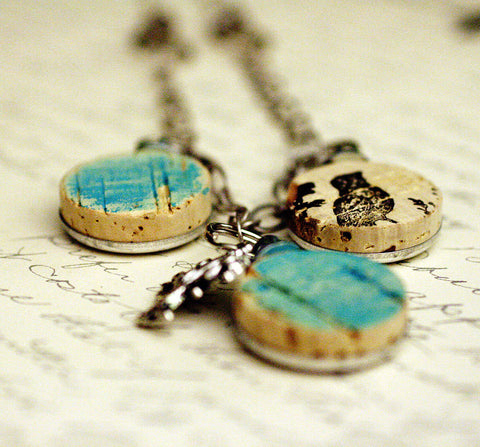 Bluebird Recycled Wine Cork Necklace | Bib Style