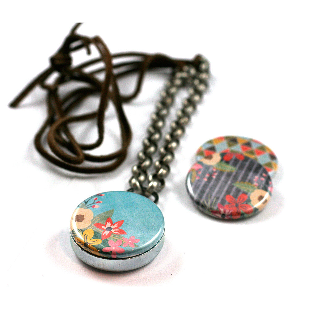 Color Burst | Leather Locket Necklace