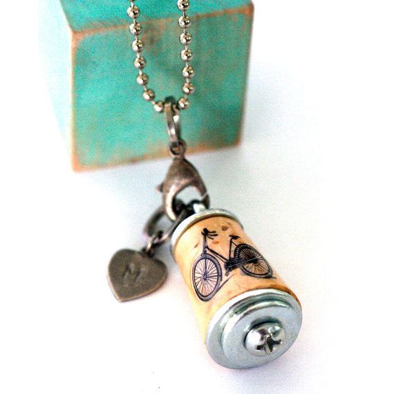 handmade cork necklace