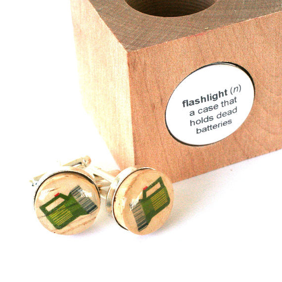 camping wedding cufflinks