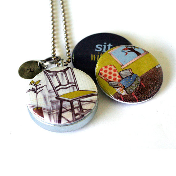 Sit With It - Magnetic Locket Necklace