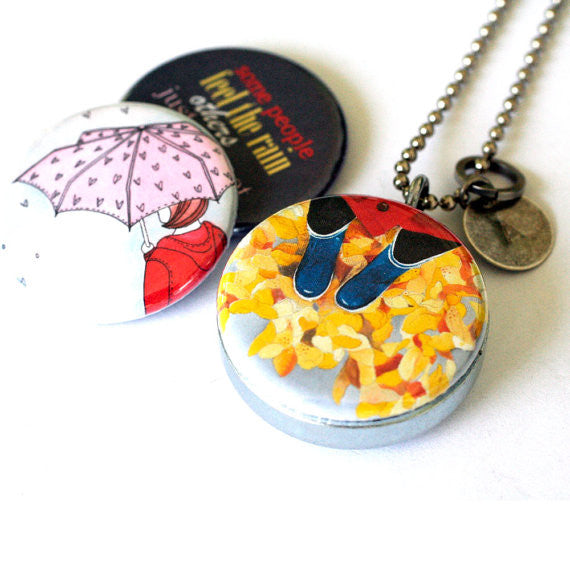 Rainy Day - Magnetic Locket Necklace