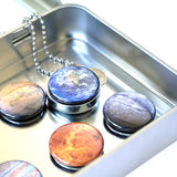 Solar System Magnetic Locket Necklace