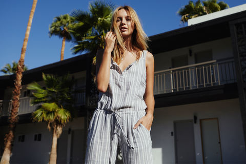 brooklyn calidas stripe jumpsuit
