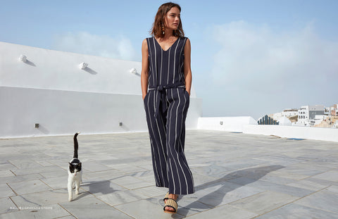 Hallie Granada Stripe Jumpsuit