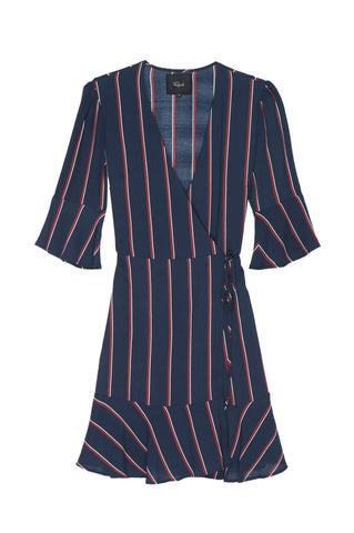 Aimee - Navy Oxblood Stripe