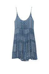amber indigo patchwork dress