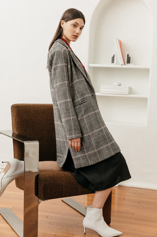 PRE-ORDER Anders - Charcoal Pink Plaid