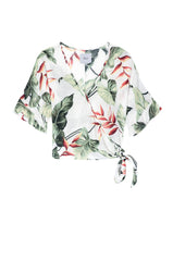 Athena Ivory Birds of Paradise Blouse