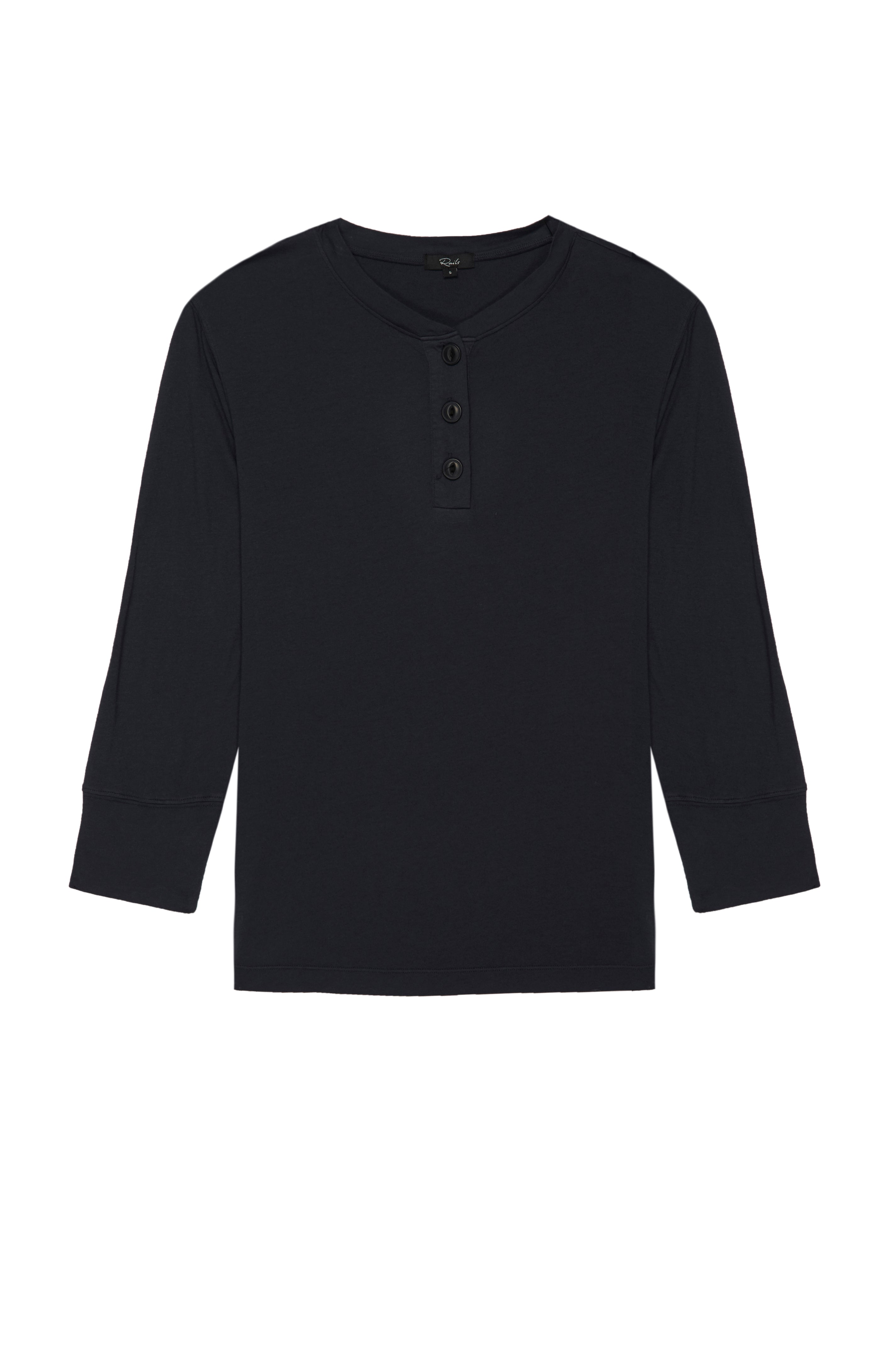 avery washed black tee front flat