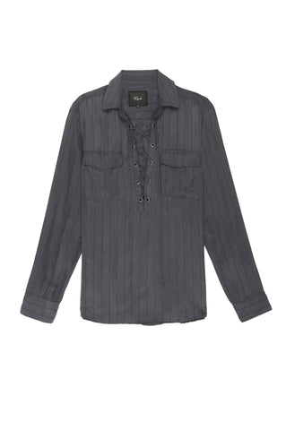 Bailey - Charcoal Black Pinstripe