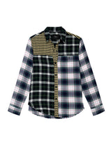 brando mixed brooklyn plaid shirt flat