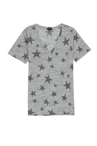 LR CARLYN - HEATHER GREY WITH CHARCOAL STARS