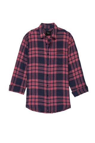 Connor - Maroon Navy Plaid