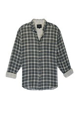 CONNOR - CHARCOAL CREAM PLAID