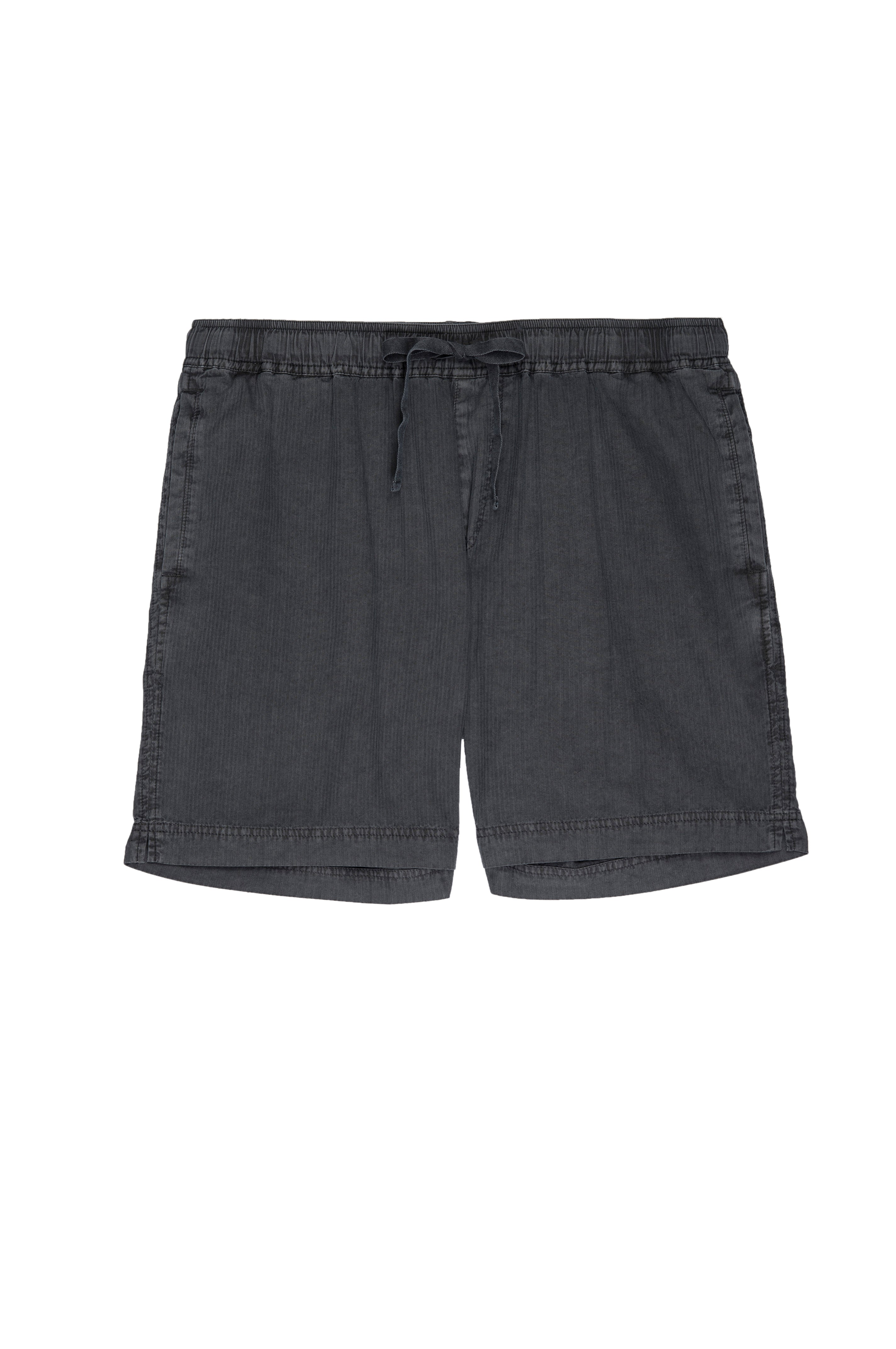 menswear, lightweight, cotton short with elastic drawstring waist in an easy relaxed fit