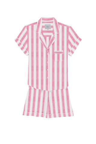 DARCIE - BUBBLEGUM WHITE STRIPE