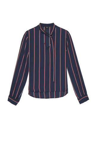 Demi - Navy Oxblood Stripe