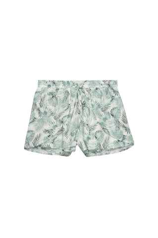 Eliza - Green Palm Print