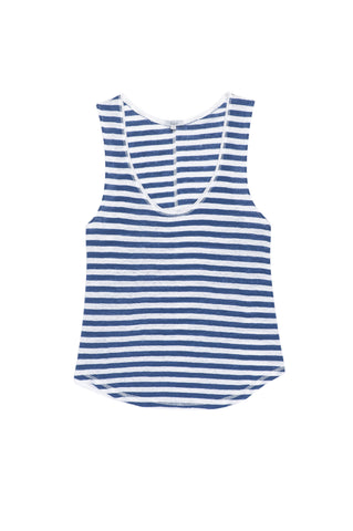 Gianna - Blue White Stripe