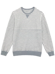 HESTON - HEATHER GREY STRIPE