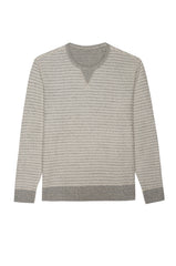 HESTON - HEATHER GREY WHITE STRIPE