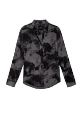 hunter charcoal tie dye buttondown shirt flat