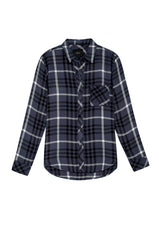 hunter twilight ebony buttondown shirt flat