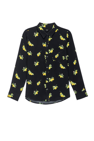 Kate Silk Lemons Shirt